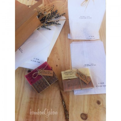 Detalle boda jabón natural